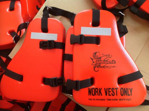 PVC Foam Life Jacket & 3 Pieces Seahorse Lifevest Working Life Vest