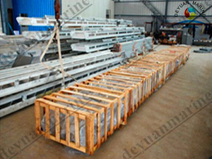 Aluminium Wharf Ladder for Marine Use
