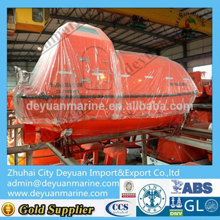 Fiberglass Boat Marine Refurbish Enclosed Lifeboat for Sale