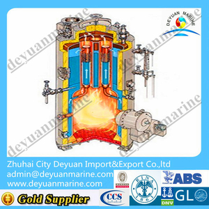 Small type marine vertical oil fired boiler