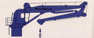 Hydraulic Electric Single Arm Slewing Davit Crane For Lifeboat And Life Raft