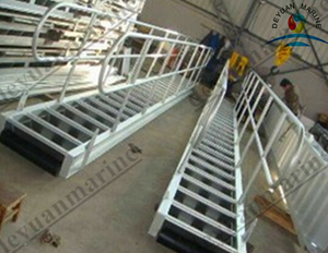Aluminum Alloy Accommodation Ladder Installed on the Vessel
