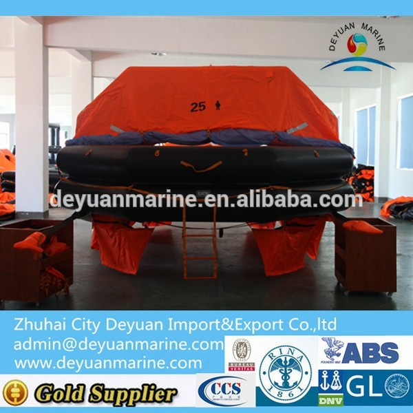 25 Man International Voyages Inflatable Life raft with CCS certificate