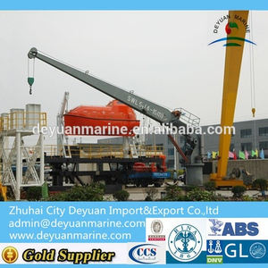 Marine Single Arm Rotary Boat/raft Davit (with Crane)
