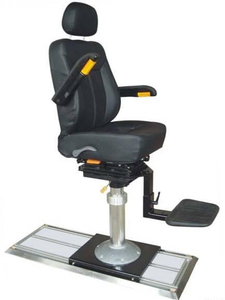 Aluminium Alloy Stand Column Marine Driving Seat with railway
