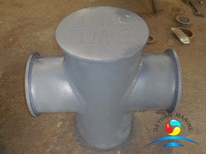 JIS F-2804 Marine Deck Single Cruciform Bollard