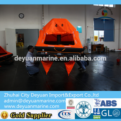 4 ManThrow-overboard Self-righting Yacht Inflatable Liferaft