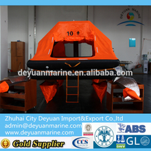 10 ManThrow-overboard Self-righting Yacht Inflatable Liferaft manufacturer