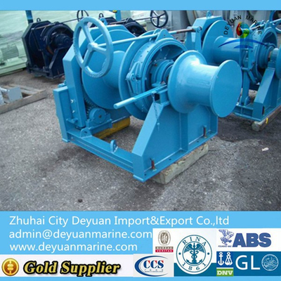 10-447 KN Marine hydraulic tugger winches with single drum for decking machine
