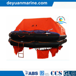 Solas and ISO Standard 25 Person Davit-Launched Inflatable Liferaft with CCS Certificate