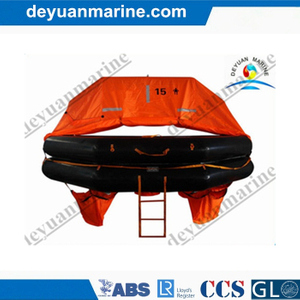 15 Person Throw-Overboard Inflatable Life Raft