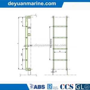 Marine Aluminium Inclined Ladder