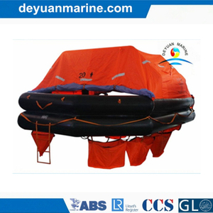 20 Persons Solas Approved Man Throw Overboard Yacht Type Inflatable Liferafts with Good Price